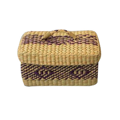 Square Bamboo Vintage Jewellery Box