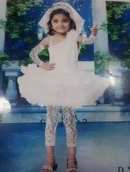 Kids Girl One Side Half Sleeve Dress