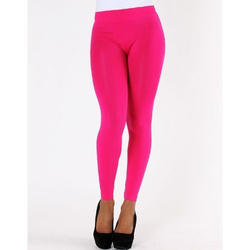 Pink Ladies Cotton Leggings, Size: Large