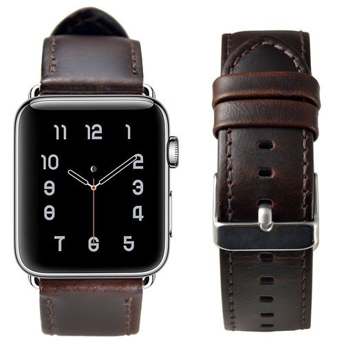 Apple Watch Leather Band Dark Brown
