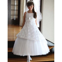 White Sleeveless Communion Dress