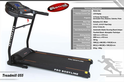 Motorized Treadmill 055, Pro Bodyline Fitness | ID: 7749314391