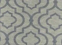 56 Ikat Quatrfoil Greyblue Fabric Curtain