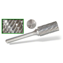 Tungsten Carbide Burr Cylindrical Shape With Endcut Type B - 16.0 X 25.0 X 6mm Shank