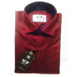 Men Maroon Party Wear Shirt