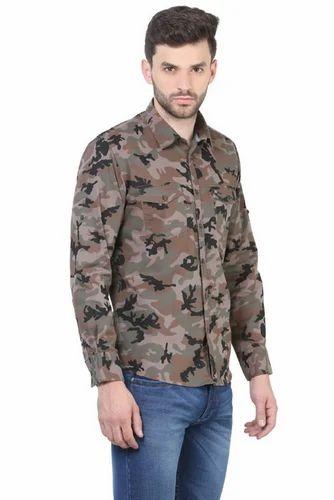 ea133e55 Cotton Crimsoune Club Brown Printed Casual Shirts | ID: 16819518791