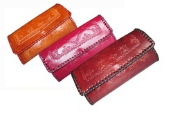 Handmade Leather Ladies Clutch