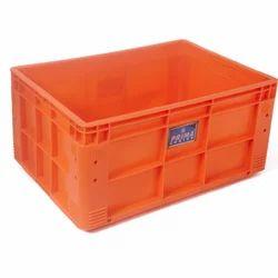 Orange Plastic Crate, Capacity: 75 Litres