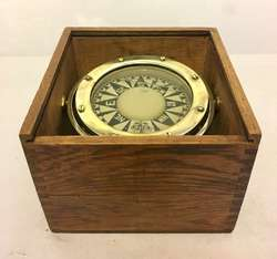 Antique Ships Gimbal Compass In Box