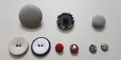White Plastic Fabric Button, For Garments, Packaging Type: Packet