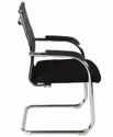 Mesh Office Fixed Visitor Chair Black