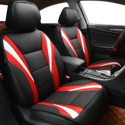 Black Red Leather Designer Car Seat Cover Id 17322927491