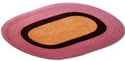 Oval Mat Tri Color Braided Doormat, Size: 15