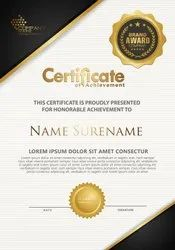 4 Days Texture Certificate, in Delhi Ncr, Dimension / Size: A4