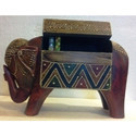 Wooden Elephant Box