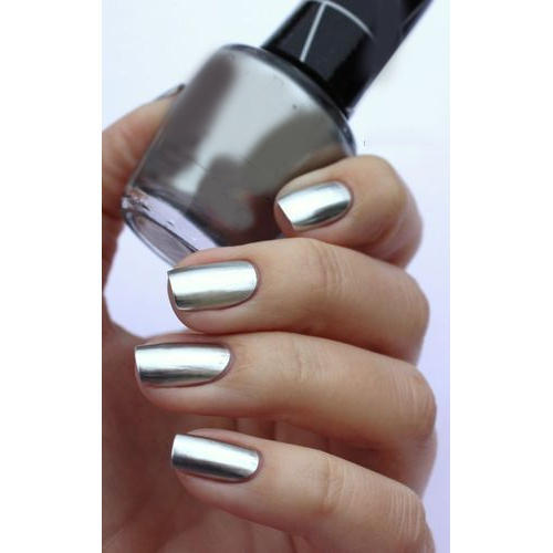 Metallic Grey Nail Polish