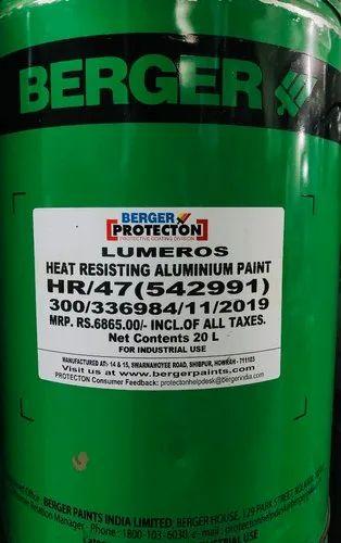 Berger Lumerous Heat Resisting Aluminium Paint Hr 47 Brush Metal Rs 285 Litre Id 21845386388