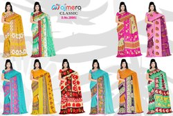 Printed Multicolor Anmazing Factory Weightless Georgette Daily Wear Saree, Handwash