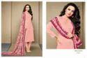 Collar Neck Pink Alina Salwar Suit Fabric