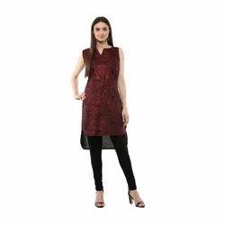 Ladies Designer Maroon Kurta