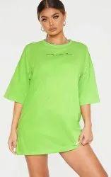 Micro Polyester Rice Net Girls T-Shirt Dresses