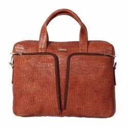 Modern Brown Ladies Leather Hand Bag, Capacity: 2 Kg