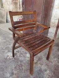 Natural Walnut Soni Sheesham Wood Hotel Restaurant Modern Design Arm Chair