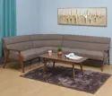 Nilkamal Wooden Adorn Corner Sofa, For Home, Living Room