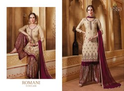 Nyssa Embroidery Sharara Suit