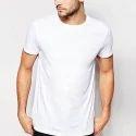 White Cotton Mens T Shirts