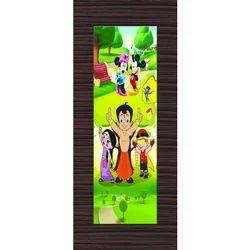 Digital Printed Cartoon Door Paper Print, Dimension / Size: 7x3 Ather