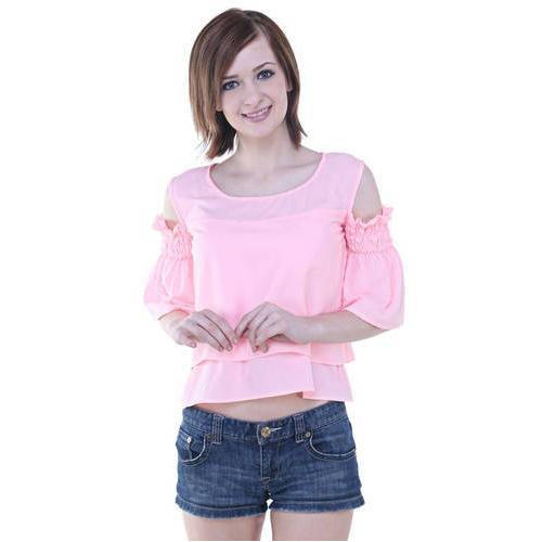 Large Plain Western Pink Ladies Top 6570d9e96