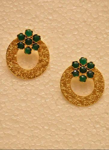 Designer Latest Round Golden Earring