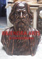 Black Marble Rabindranath Tagore Statue, Size: 2 Feet