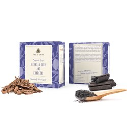 Aro Vatika Best Quality Arabian Oudh and Charcoal Organic Soap, 100g
