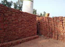 Brick Actual Size Red Clay Bricks, For Side Walls
