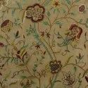 Kasmir Tradational Watlab Cotton Wool Hand Embroidered Crewel Fabric