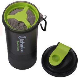 Black Body Green Lid iShake 019 Blender Plastic Shaker Bottle