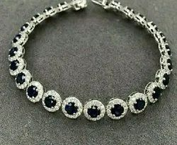 Real Diamond Tennis Bracelet, Packaging Type: Box, for Party Wear