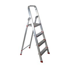 Aluminum Flat Step Folding Ladder