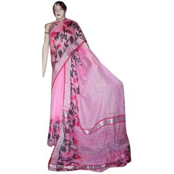 Casual Ladies Cotton Fancy Saree, Packaging Type: Plastic Bag