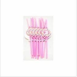 2nd Birthday Pink Straw