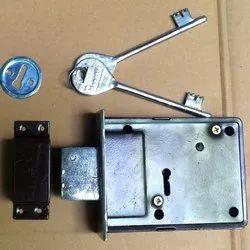 Stainless Steel Black Rim Door Lock, Polished