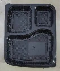 Meal Tray 3 Portion Black