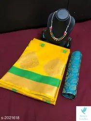 Handloom Saree, With blouse piece, Alll