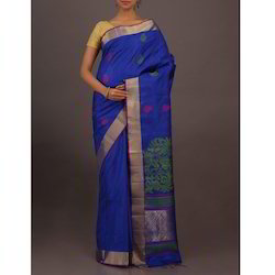 Multicolor Party Wear Uppada Silk Saree
