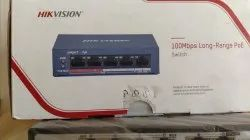 Grey LAN Capable Hikvision 4port POE switch, 15W