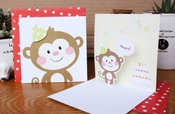 Normal Red Cartoon Greeting Card, Size: Standard