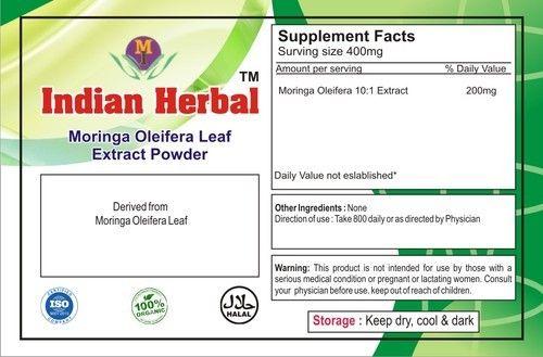 Moringa Oliefera 10:1 Leaf Extract, Pack Size: 25kg