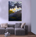 Inephos Canvas Painting - Beautiful Barn Art Wall Painting, Size: 91cm X 61cm (including 1cm Border For Framing)